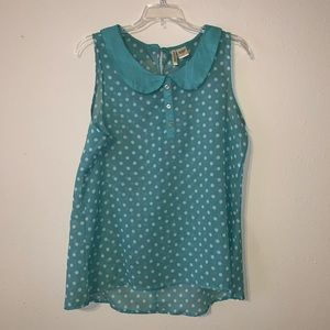 Minty green blouse